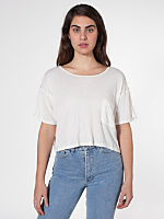 Sheer Stripe Mid-Length Pocket Tee