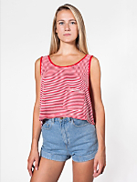 Stripe Mid-Length Pocket Tank