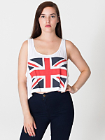 Printed Mid-Length Tank - Union Jack
