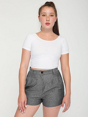 High-Waist Pleated Short