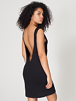 Sheer Jersey Scoop Back Dress