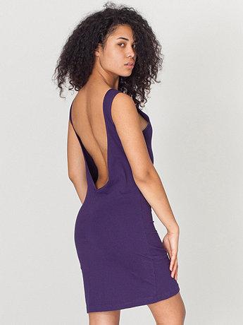 Sheer Jersey Scoop Back Dress