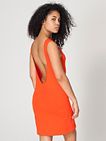 Cotton Spandex Jersey Scoop Back Dress