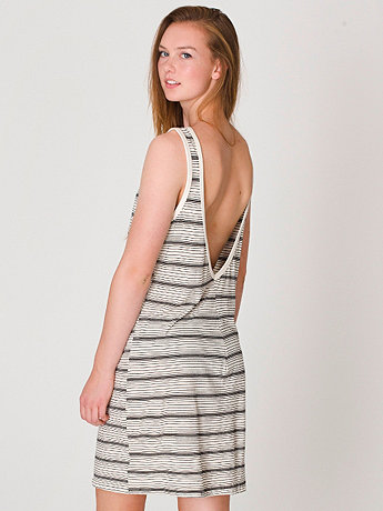 Stripe Scoop Back Dress