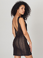 Zig Zag Lace Scoop Back Dress