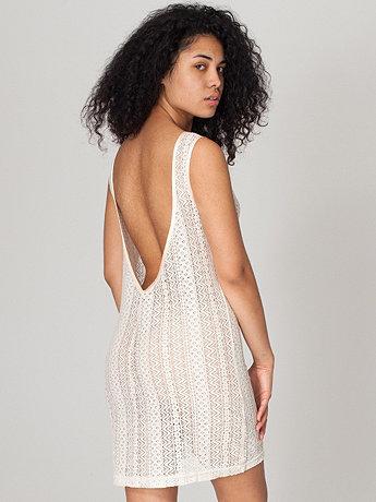Zig Zag Lace Scoop Back Dress