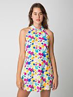 Printed Bib Dress