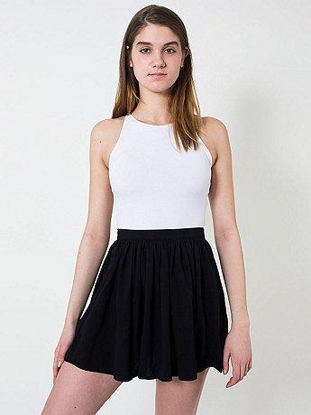 Piqué Full Woven Skirt
