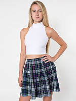 Plaid Full Woven Skirt