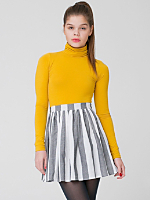 Stripe Full Woven Skirt