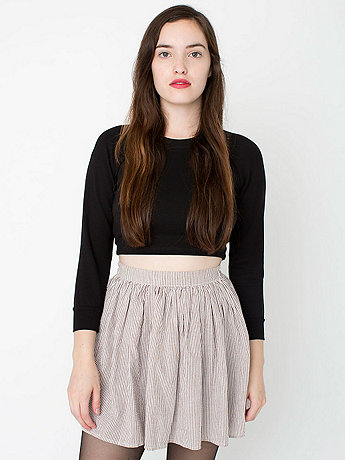 Seersucker Full Woven Skirt