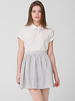 Seersucker Full Woven Skirt