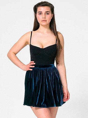 Velvet Full Woven Skirt