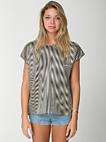 Oversized Satin Charmeuse Square Top