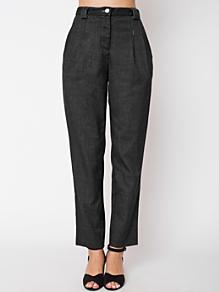 Calvary Twill High-Waist Pleated Pant