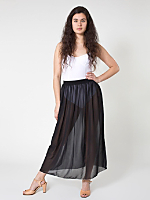 Chiffon Single-Layer Full Length Skirt