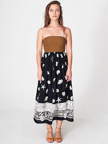 Printed Rayon Full Length Skirt