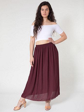 Chiffon Double-Layered Full Length Skirt