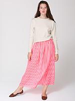 Stripe Chiffon Full Length Skirt