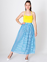 Stripe Chiffon Full Length Skirt