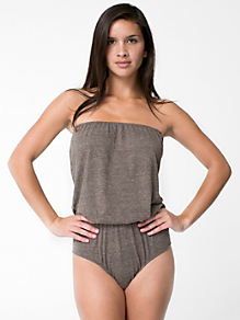 Tri-Blend High-Waist Brief Romper