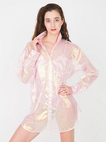 Organdy Oversized Button-Up