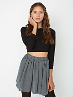 Stripe Chiffon Double-Layered Shirred Waist Skirt