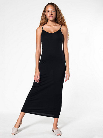 The Long Cotton Spandex Spaghetti Tank Dress