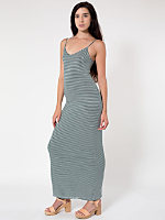 The Stripe Long Spaghetti Tank Dress