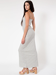 The Stripe Long Spaghetti Tank Dress