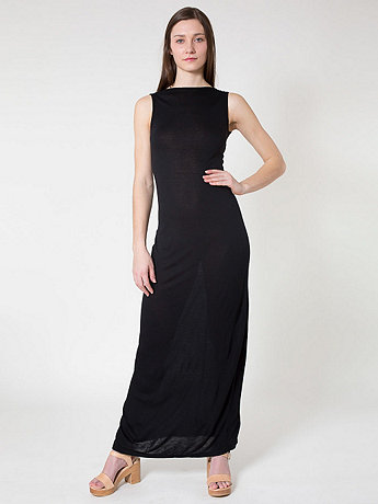 Viscose Long Scoop Back Dress