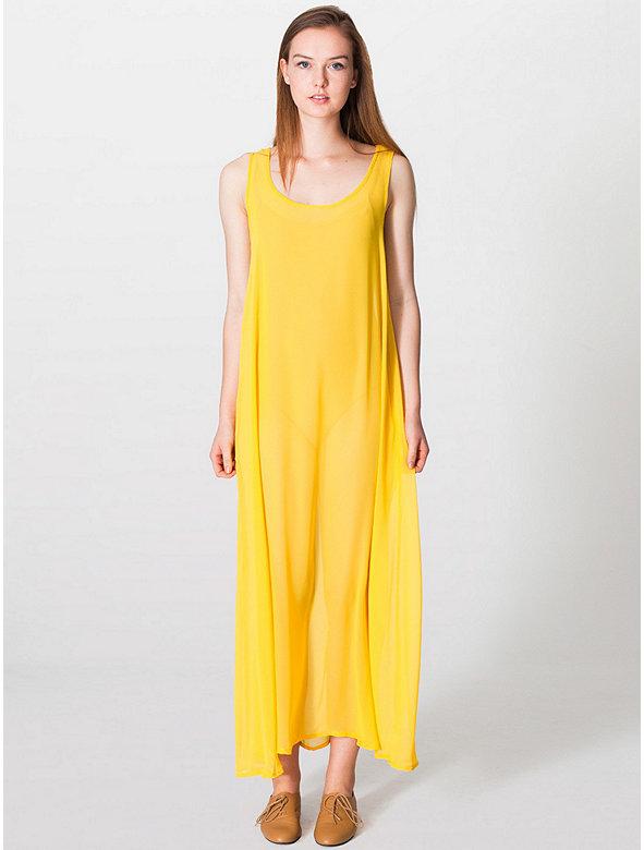 Chiffon A-Line Maxi Dress