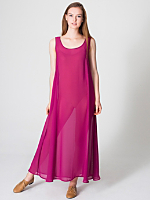 Chiffon A-Line Maxi Dress