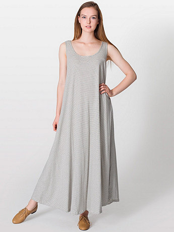 Stripe A-Line Maxi Dress