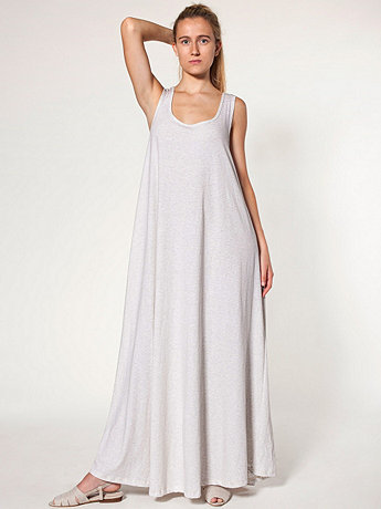 Stripe A-Line Maxi Dress