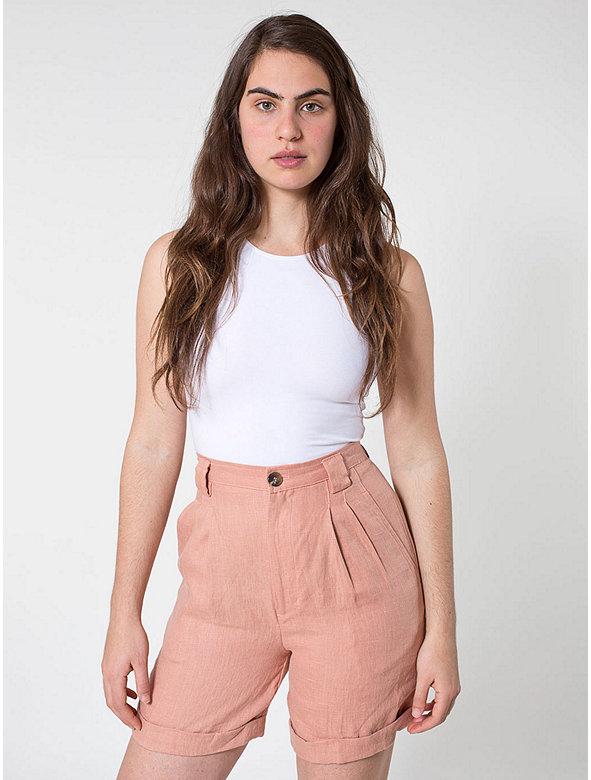 Linen Pleated Short