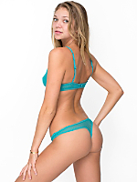 Geo Lace Mid-Rise Thong
