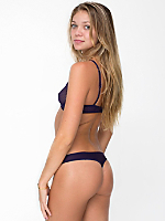 Fine Tricot Mid-Rise Thong