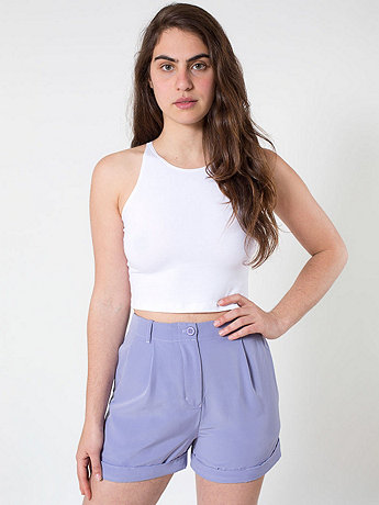 Pleated Cuff Short