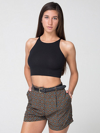 Printed Pleated Cuff Short