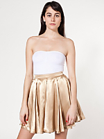 Short Charmeuse Gore Skirt