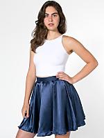 Short Charmeuse Gore Skirt