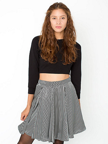 Striped Short Gore Skirt