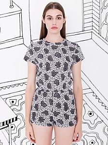 Nathalie Du Pasquier Zeta Print T-Shirt Romper