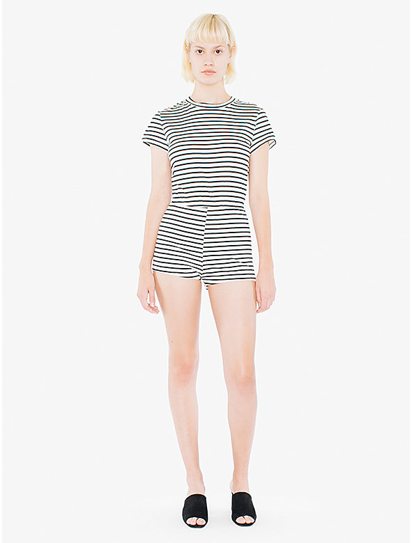 Striped Jersey T-Shirt Romper