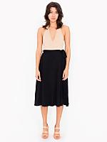 Mid Length Wrap Skirt
