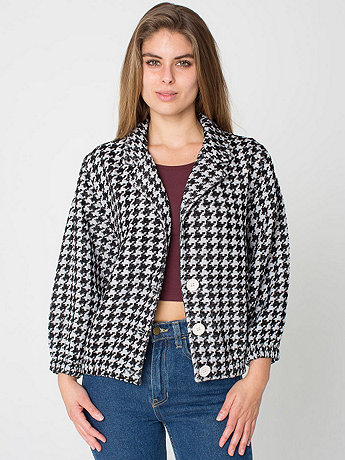 Houndstooth Jacquard Woven Jacket