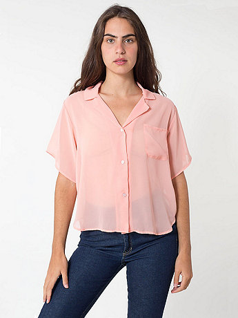 Short Sleeve Boxy Blouse