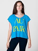 Screen Printed Loose Cut-Off Shirt - Au Pair