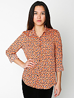 Crepe Basic Button Up Blouse